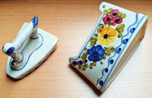 Porzellan Dose Blümchen Bügeleisen handbemalt - Verden (Aller)