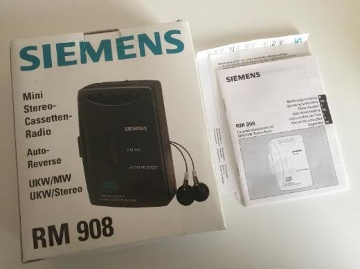 Siemens RM 908 Stereo-Cassetten-Radio-Spieler -NEU- - Bremen
