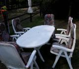 Gartenmöbel Set Tisch Stühle Auflagen - Emstek