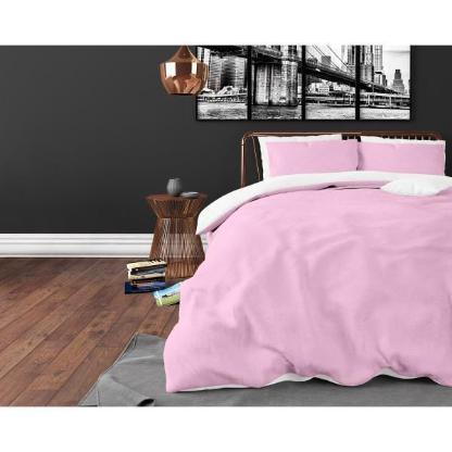 Bettwäsche Twin Face Pink/White 140x220 ReVyt - Friesoythe