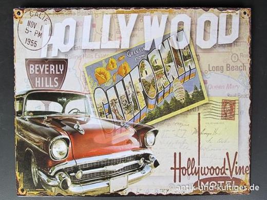 Blechschild Hollywood - 20x25 cm - Scheeßel