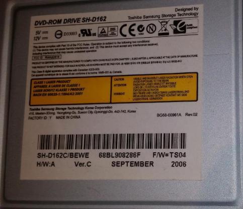 Toshiba Samsung SH-D162 DVD ROM Drive Laufwerk IDE - Verden (Aller)