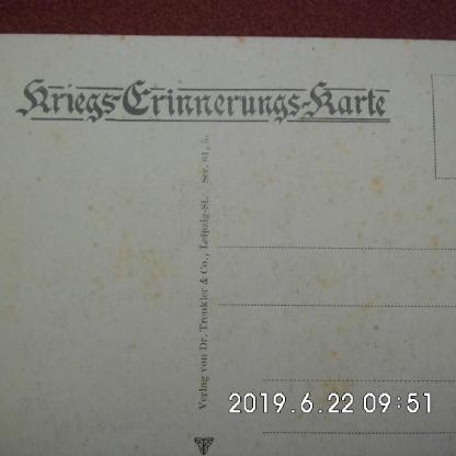 Kriegs- Erinnerungs-Karte 2. Weltkrieg - Bremen