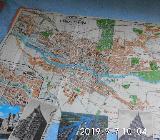 Alter Stadtplan von Bremen mit Historischen Ansichtskarten - Bremen