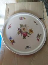 Tortenplatte - Kuchenteller von ZEH SCHERZER Bavaria US Zone floral Design