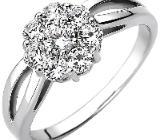 Damen Ring 925 Sterling Silber 8 Zirkonia - Holdorf