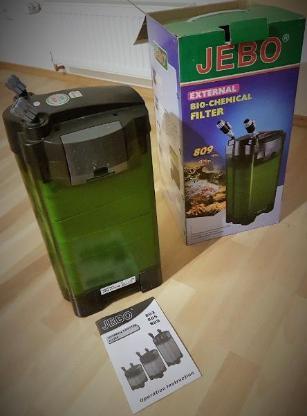 JEBO 809 Aquarium Aussen - Biofilter + Filtermedien - Verden (Aller)