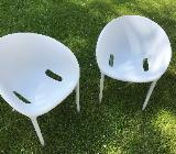 2 Driade Soft Egg Outdoor / indoor Stuhl hellgrau Design Philippe Starck - Bremen Östliche Vorstadt
