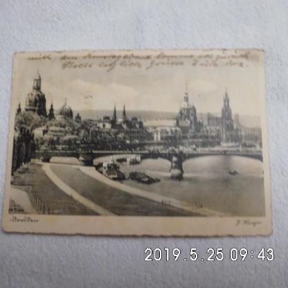 Karte Dresden 1943 mit A. H. - Bremen