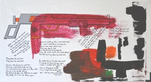 """Acrylbild """" Assoziation - Love And War"""" von Ramke.Art - Bremen"""