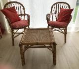 Rattan-Garnitur (2 x Sessel, 1 Beistelltisch) wie Foto gesamt 30 € - Friesoythe