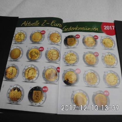 4 Stück 2 Euro Münzen Stempelglanz 67