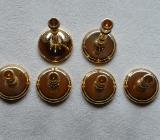 Kerzenhalter / Kerzenständer /Gold / von BSF mit 24 Karat Feinvergoldung. - Hambergen