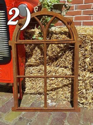 *PAYPAL/VERSAND 6,99€* Alte Stallfenster Gussfenster Scheunenfenster Fenster für Gartenmauer Stahlfenster Eisen Fensterrahmen - Jever