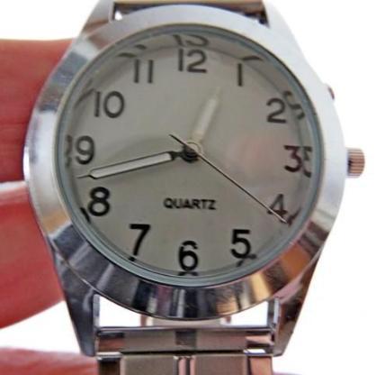 Neue Edelstahl-Armbanduhr (unisex) mit Edelstahl-FLEXO-Armband und Ziffernblatt-Beleuchtung, top! - Diepholz