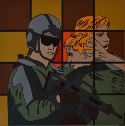 """Acrylbild """"Man With A Gun #2"""" von Ramke.Art - Bremen"""
