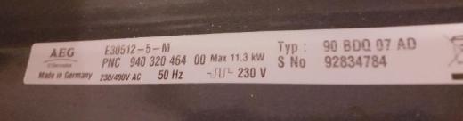 "AEG Electrolux E30512-5 Elektroherd Max.11,3 kw "" Top "" - Verden (Aller)"