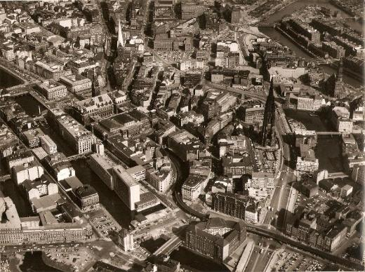Luftbilder: Hamburg von oben vor 55 Jahren - Bremen