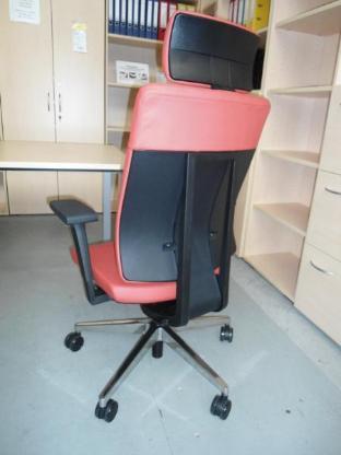 Bürodrehstuhl Xenon SFL mit Kopfstütze, Leder rot - Bremen