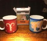 12 Kaffee-Kakao-Tee-Becher, Porzellan, von Thomas Rosenthal Group, mit Sternzeichen Motiven - Gnarrenburg