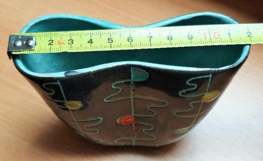 Keramik Vase, 50er Jahre, Gebrüder Conradt, Modellnr: 415 - Verden (Aller)
