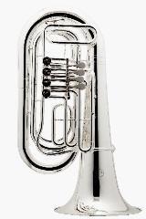 Besson 186 BBb Tuba, echt versilbert. Neu mit Rollenkoffer