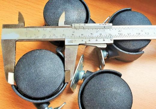 4 x Stück Möbelrollen 50 mm schwarz mit Platte 35kg - Verden (Aller)