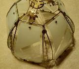 Lampenschirm - goldfarben und Milchglas - Elsfleth