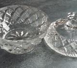 Zuckerschale mit Deckel Glas - Kristall, - Langwedel (Weser)
