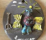 Design Keramikplatte Wandbild Sommer / Winter Worpswede - Bremen
