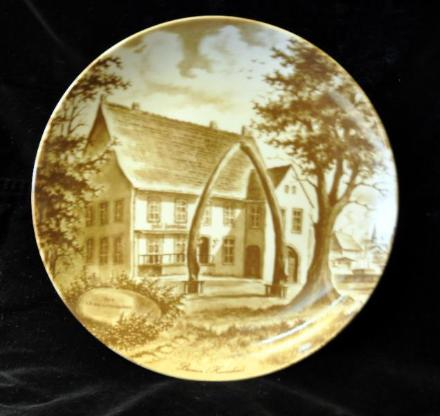 Wandteller / Heimatteller - Motiv: Bremen / Havenhaus - Achim