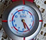 "Gut gepflegte Kinder-Marken-Armbanduhr ""Scout"", Edelstahl, Lederarmband, Batterie neu! - Diepholz"