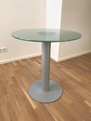 Bistrotisch 70cm Durchmesser - Mattglas - - Bremen