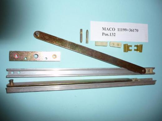 MACO-Öffnungsbegrenzungen mit Zubehör, gelb chrom.e - Ritterhude