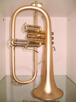 B & S 3145 G - E Goldmessing Elaboration Flügelhorn - Made in Germany - Neuware. - Bremen Mitte