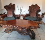 Redwood Thronstühle, Tisch und Fußbank - Bremerhaven