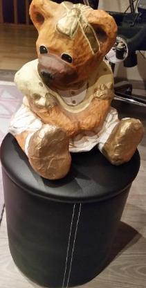 Teddy Bärin aus Pappmaschee hübsche Deko für das Kinderzimmer - Verden (Aller)