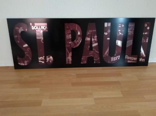 """St. Pauli"" - Motivspiegel / Wanddeko - Verden (Aller)"