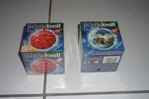 2 Puzzlebälle (Weihnachtsmotiv)