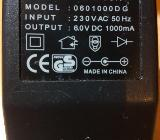 Adaptor 230 V / 6.0 V DC 1000 mA mit 3,5 mm Klinkenstecker Ladeadapter - Verden (Aller)