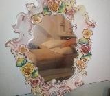 Spiegel Porzellan Kerzenhalter Rosen wunderschön - Visselhövede