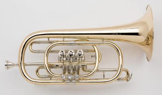 Dotzauer 3060 weite Goldmessing Basstrompete. Neuware / OVP