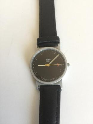 Design-Klassiker Armbanduhr von Braun Typ 3802 - Bremen