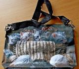 Neue Damen-Handtasche mit Katzen-Mitiven und verstellbarem Tragegurt! - Diepholz