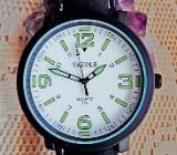 XXL-Herren-Marken-Armbanduhr, Lederarmband, gut ablesbar - Neu! - Diepholz