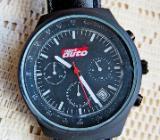 Gute Sport-Marken-Armbanduhr, Datum, Stoppuhr, Lederarmband, Leder-Etui, neu in OVP! - Diepholz