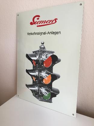 Siemens-Nostalgie-Ampel Emailleschild -Rarität- - Bremen