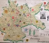 Alte Schultafel / Lehrkarte Geteiltes Deutschland zu verkaufen - Zeven