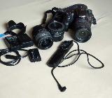 Sony Alpha SLT-A65VK 24.3MP Digitalkamera  gebraucht mit vielem Zubehör zu verkaufen - Bremen