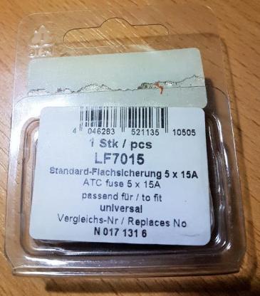 5 x Stück 15 Ampere A.I.C. Competition Line Kfz Sicherungen - Verden (Aller)